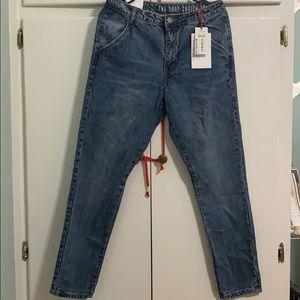 The Skinny Drop Crotch jeans.